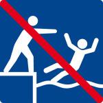 Swimming sign - forbidden