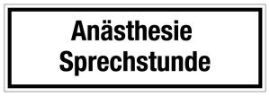 Hospital and Practice Shield - Anesthesia Consultation - Foil Self-adhesive - 10 x 30 cm