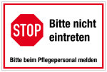 Hospital and Practice Sign - Stop - Please do not enter