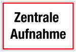 Hospital and practice sign - Central admission