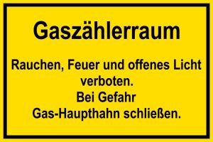 Shield for gas and heating systems - gas meter room - foil self-adhesive - 20 x 30 cm