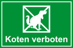 Playground sign - Koten forbidden