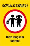 Playground sign - schoolchildren! Please drive slowly!