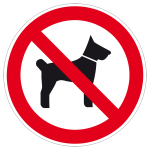 Prohibition sign - Carrying of animals prohibited