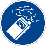 Mandatory sign - use gas detector
