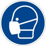 Mandatory sign - use mask
