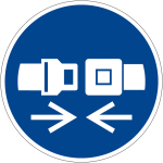 Mandatory Sign - Use Restraint System