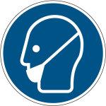 Mandatory sign - beard protection