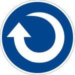 Mandatory sign - clockwise rotation