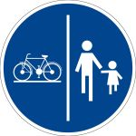 Mandatory sign - use bicycle and pedestrian path