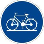Mandatory sign - use bike path