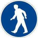 Mandatory sign - for pedestrians