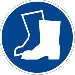 Mandatory - use foot protection