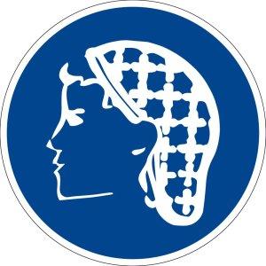 Mandatory sign - use hairnet - plastic - Ø 5 cm