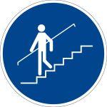 Mandatory sign - use handrail