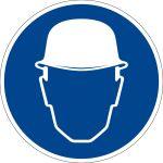 Mandatory sign - use safety helmet