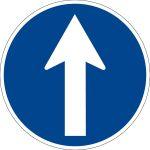 Mandatory sign - direction indication