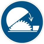 Mandatory sign - Protective hood Use table saw