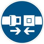 Mandatory sign - use safety belt