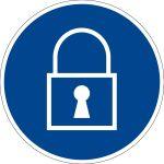 Mandatory Signs - Lock