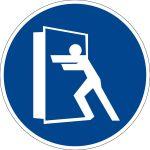 Mandatory sign - always close the door