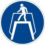 Mandatory sign - use transition