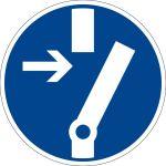 Mandatory Sign - Unlock before working
