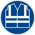 Mandatory sign - use safety vest