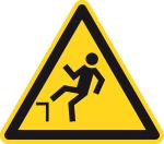 Warning sign - warning of danger of falling
