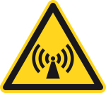 Warning sign - warning of electromagnetic field