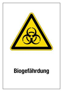 Warning sign - biohazard - plastic - 20 x 30 cm