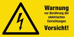 Warning Sign - Electrical Equipment - Plastic - 10 x 20 cm