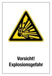 Warning sign - Caution! risk of explosion