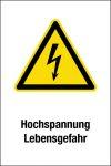 Warning sign - high voltage Danger to life