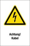 Warning sign - Attention! Electric wire