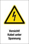 Warning sign - Caution! Cable under tension