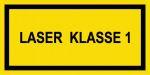 Warning sign - laser class 1