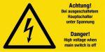 Warning sign - voltage
