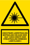 Warning Sign - Invisible Laser Radiation Class 4 Laser