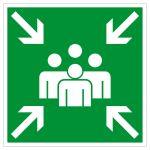 Escape route sign - collection point