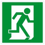 Escape route sign - emergency exit right hand