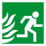 Escape Road Sign - Open only in case of emergency / right