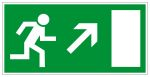 Escape route sign - Escape route right upwards