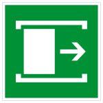 Escape route sign - sliding door