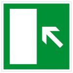 Escape route sign - rescue route left upwards