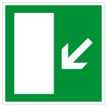 Escape route sign - Escape route left downhill