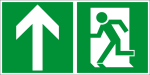 Escape route sign - rescue route top left