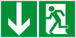 Escape route sign - emergency exit - foil self-adhesive