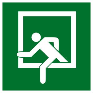 Escape Road Sign - Emergency Exit - Plastic - 5 x 5 cm
