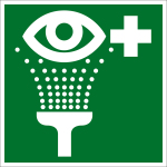 Escape sign - eyewash facility